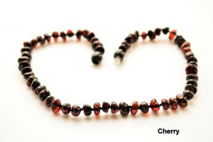 Natural Baltic amber Teething baby Adult necklace Cherry Baroque beads