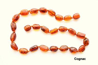 Amber Cognac olive neckalce