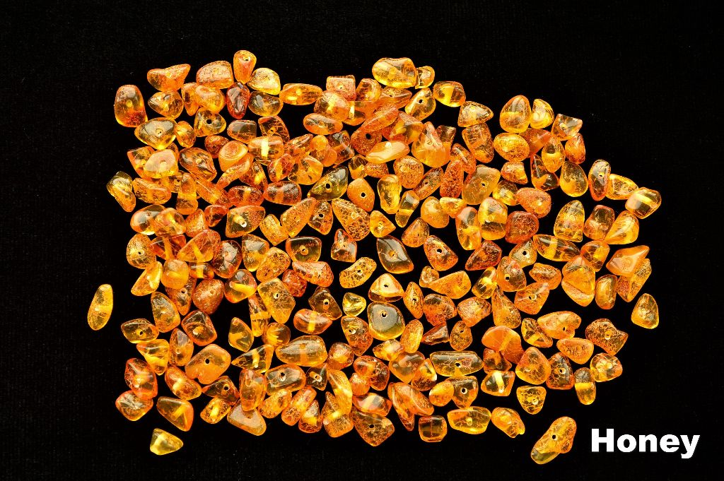 Natural Baltic amber Beads Loose beads chips Honey