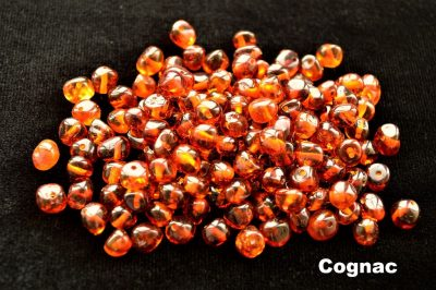 Natural Baltic amber Beads Loose Baroque Cognac Drilled